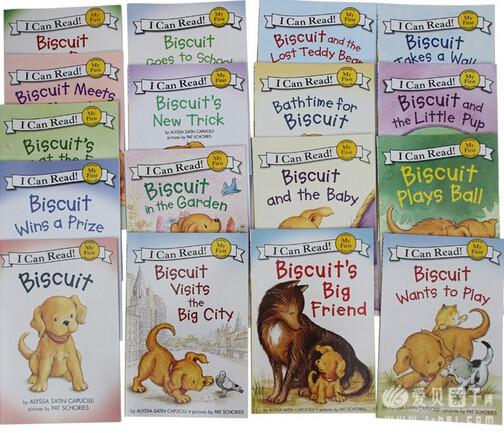 《Biscuit小饼干狗系列 I CAN READ》17册全套有声读物点读版 - 点读笔资源 爱贝亲子网