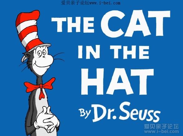 儿童英语幽默小故事_原版英语The Cat in the Hat 《戴帽子的猫》绘本下载 - 爱贝亲子网