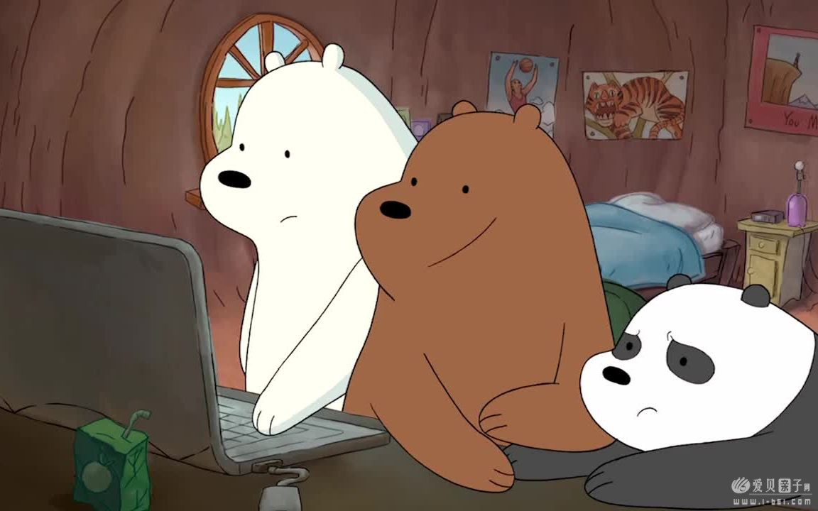 Q版北极熊_咱们裸熊We Bare Bears1-3季英文版带中英文字幕 百度云盘分享下载 ...
