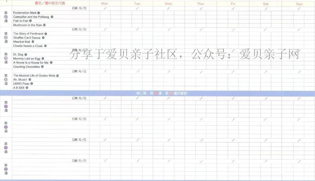 廖彩杏����2年(52周+32周)168本���表